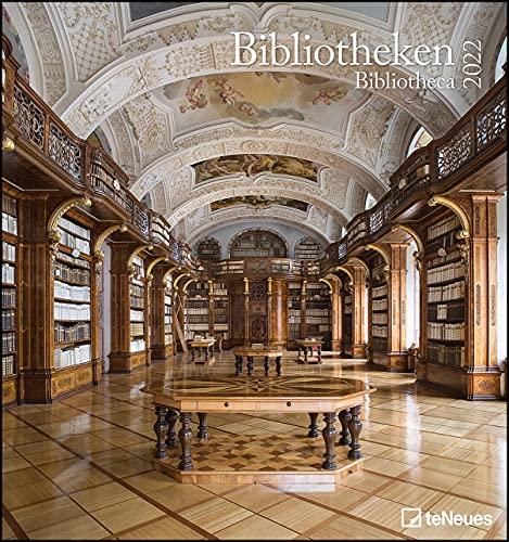 Bibliotheken 2022 - Wand-Kalender - Foto-Kalender - 45x48 - Bücher: Bibliotheca