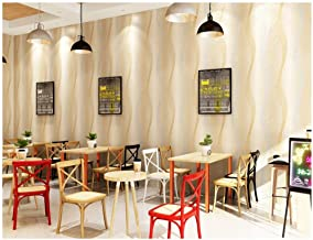 HIZLJJ Wallpaper removable wallpaper Floor tiles Non-Woven 3D Effect Waterproof Wallpaper, Modern Print Embossed Stripe Fa...