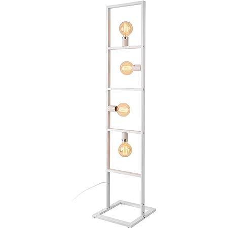 lux.pro Lampadaire Design Lampe sur Pied Moderne 4 x E27 60W Métal Hauteur 142,5 cm Blanc