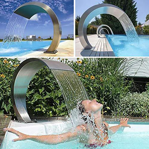 GonbObcxggr 60 * 30Cm Fountain Garden Pool Pond Edelstahl Pool Brunnen Teich Garten Kaskade Jardin Pool Wasserfall