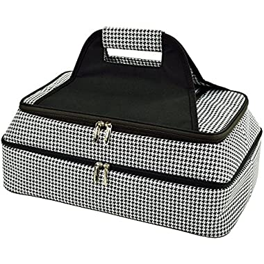Picnic at Ascot - Two Layer - Hot/Cold Thermal Food and Casserole Carrier (Houndstooth)
