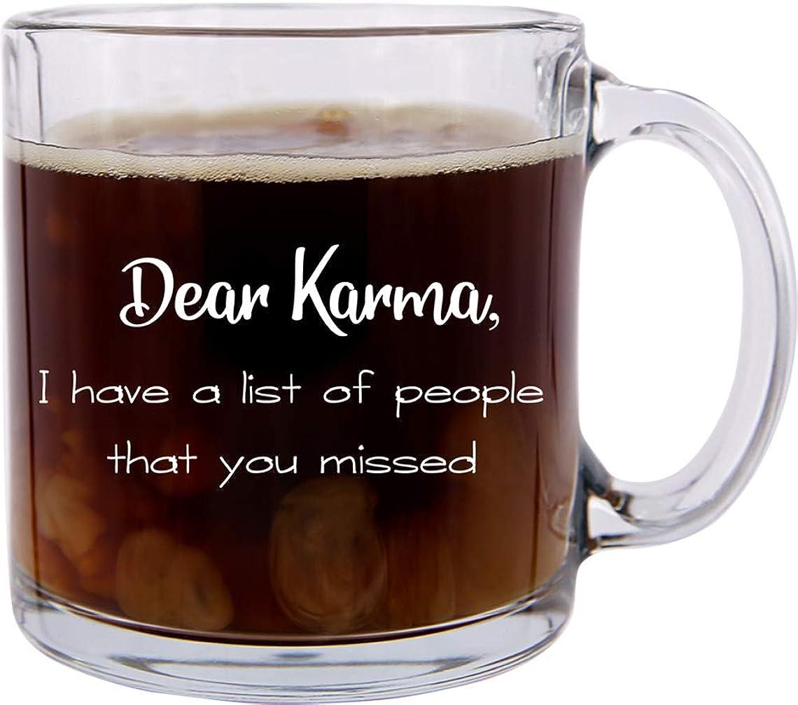 格納風が強いママDear Karma ファニーグラス コーヒーマグ 友人やオフィスの同僚に最適