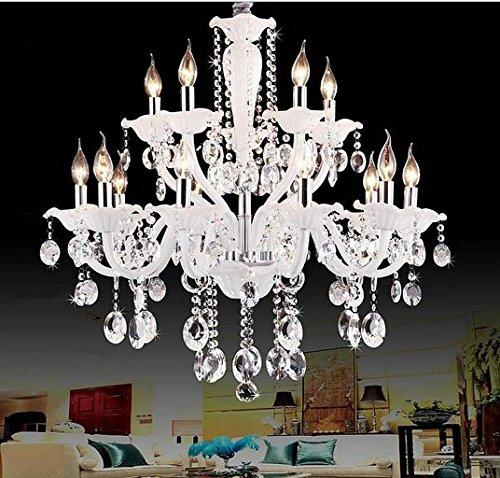 Gowe weiß Farbe Moder Kristall Kronleuchter lustres de cristal lustres de Teto Luminarias Para Sala 110–120V, 220–240V Lampenschirm Farbe: Grün