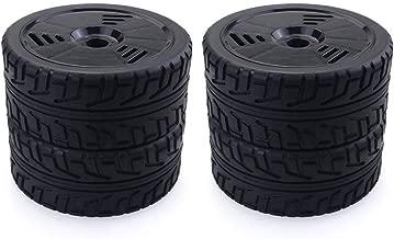 DF-ES 4PCS 1/8 RC Neumáticos de Goma Ruedas de plástico para Team Losi VRX HPI Kyosho Redcat HSP Carson Hobao 1/8 Buggy / On-Road Car (Color: Negro)