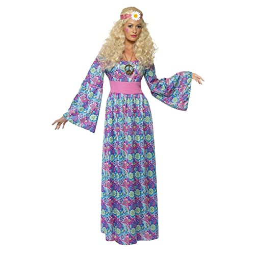 64133ac75f3 Ladies 1960s 1970s Hippie Hippy Long Length Maxi Flower Child Hen Do Fancy  Dress Costume Outfit