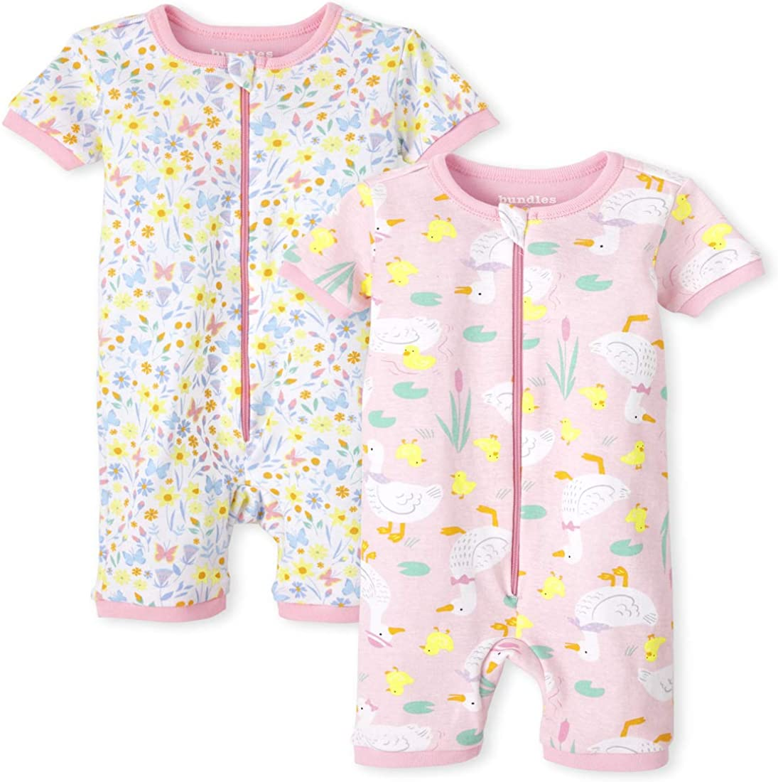 The Children's Place Baby Girls' Two Pack Stretchie Pajamas
