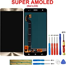 swark Super AMOLED Display Compatible with ASUS ZenFone 3 Deluxe ZS570KL Z016D 5.7 inch(Gold Touch Screen Display + Tools