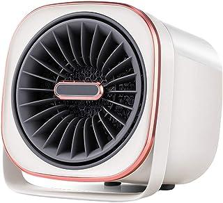 LTJX Calefactor Cerámico PTC 600W Calentacdor Eléctrico de Espacio Personal de Aire Caliente con Antivuelco Protección contra Sobrecalentamiento para Hogar y Oficina,Blanco