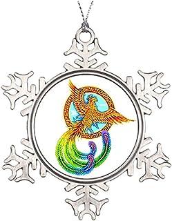 Custom Christmas Snowflake Ornaments Chinese Vermilion Bird Metal Christmas Snowflake Ornaments Chinese