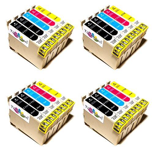 20x Premium Tintenpatronen kompatibel für Epson Stylus SX 205, SX 210, SX 215, SX 218, SX 400. - 8X BK, 4X Cy, 4X Ma, 4X Ye - Lstg: 18ml