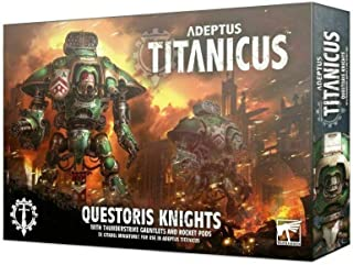Games Workshop Adeptus Titanicus: Questoris Knight with Thunder Strike Gauntlets and Rocket Pods