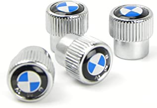 Valve Stem Caps, Tire Valve Stem Caps for BMW, 4 Pcs Silver