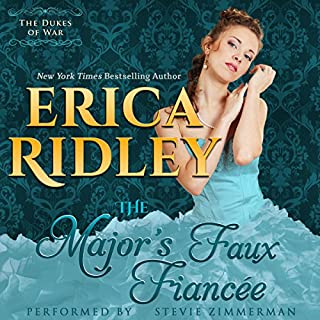 The Major's Faux Fiancee audiobook cover art