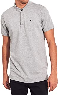 [ホリスター] HOLLISTER 正規品 メンズ スリムフィット ワンポイントロゴ 半袖ポロシャツ Stretch Shrunken Collar Slim Fit Polo 324-224 並行輸入品 [並行輸入品]