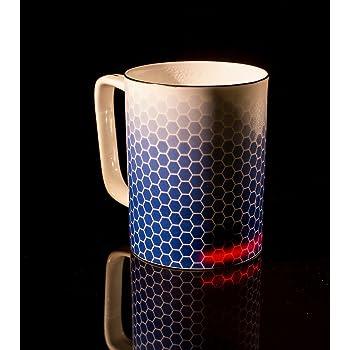 Glowstone Ultimate Honeycomb Self-Heating Smart Mug – Fine Bone China (12.5 fl oz)