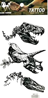 PP TATTOO 1 Sheet Black Cartoon T-Rex Dinosaur Animal Arm Body Sticker Tattoo Art Make up for Men Temporary Tattoos Paper Waterproof for Men Women