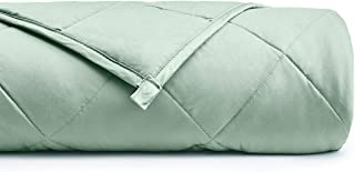 YnM Weighted Blanket (25 lbs, 60''x80'', Queen Size) for People Weigh Around 240lbs | 2.0 Breathable Heavy Blanket | 100% Cotton Material with Glass Beads, Sprout Green …