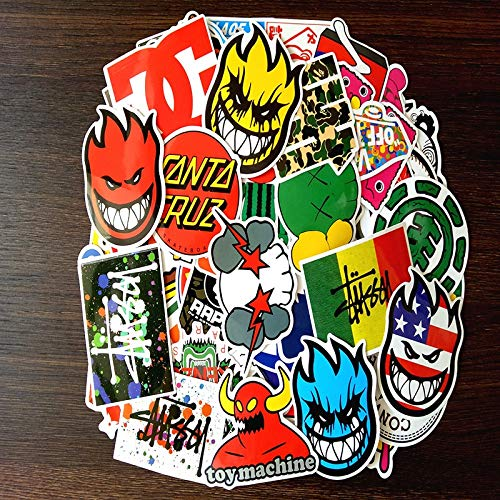 Skateboard Fashion Merk Logo Waterdichte Sticker Voor Bagage Auto Guaitar Skateboard Telefoon Laptop Stickers 100 Stks