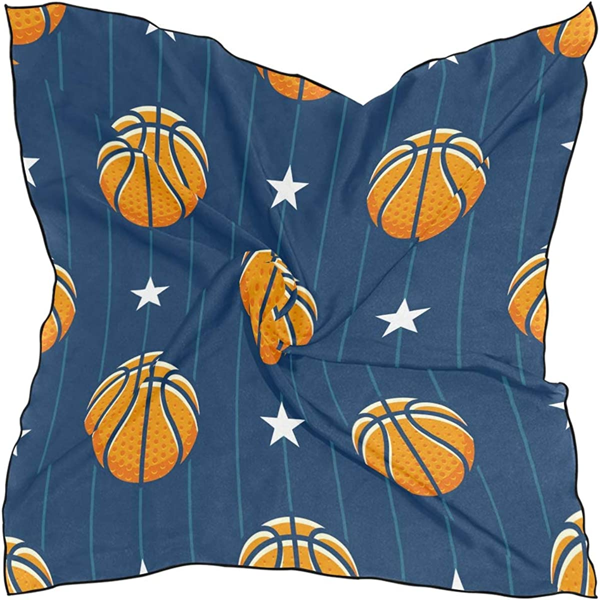 XLING Fashion Square Scarf Sport Basketball Stripe Star Lightweight Sunscreen Scarves Muffler Hair Wrap Headscarf Neckerchief for Women Men
