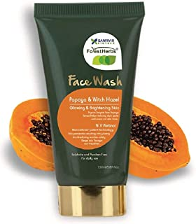 ForestHerbs Papaya & Witch Hazel Skin Glowing Brightening Dark Spot Reduction Face Wash For Women & Men (150 ml)