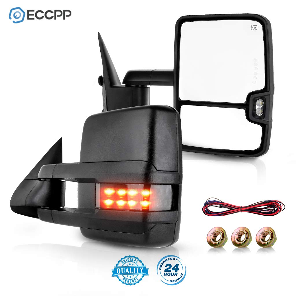 Amazon Com Eccpp Towing Mirrors Replacement Fit For 1999 2002 Silverado Sierra Power Heated Smoke Led Signal Pickup Mirrors Automotive
