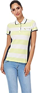 NAUTICA Polos For Women, White & Yellow L