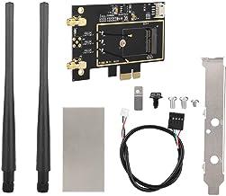 Redxiao Tarjeta convertidora PCI-E, M.2 NGFF a PCI-E 1X Mini Universal Plug and Play para 8260 7265 1535 7260 Adaptador WLAN WLAN Tarjeta de Red
