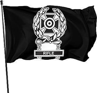 Komibdo Us Army Badge Marksman Badge Expert W Rifle 3x5 Ft Outdoor Banner Garden Decor Decorative Flag Fade Resistant