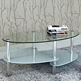 Anself 90 x 45 x 43cm Table Basse de Salon avec 3 Etages