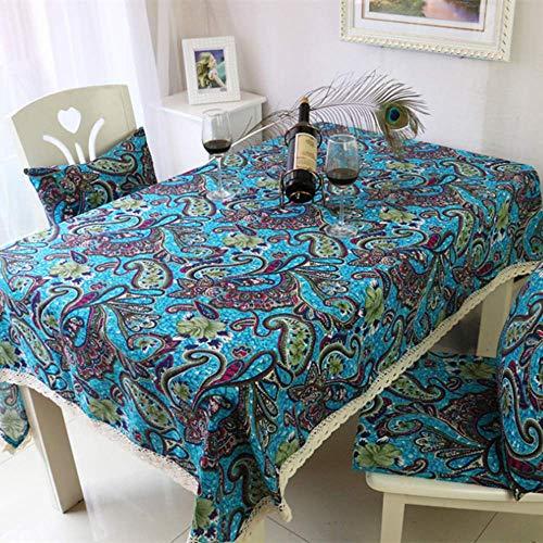 XTUK HomeTablecloth Christmasethnic Tischdecke Tuch frische Baumwolle und Leinen Couchtisch Tuch rechteckigen Konferenztisch Tischdecke...