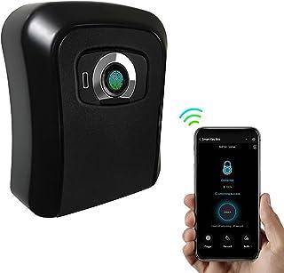 Nukcc Smart Key Box,Smart Key Storage Box with Fingerprint & APP Unlocking 100 Fingerprints Rechargeable Smart Key Box Dur...