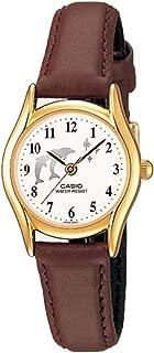 Casio LTP1094Q-7B9LTP1094Q-7B9–Women's Wrist Watch, Leather Strap Brown