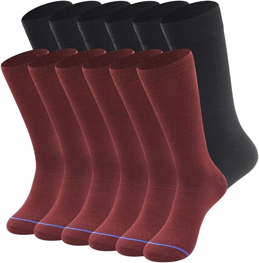 Mens Merino Wool Dress Socks Winter Autumn Therminal Wool Dress Socks Sweat-wicking Lightweight Wool Socks