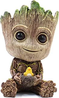 RedDreamer Groot Planter Pot, Baby Groot Bird-Nest Model Succulent Planter Pot Cute Green Plants Pot Groot Flower Pot, Groot Pen Holder with Hole, Best Gift for Kids, Parents, Friends