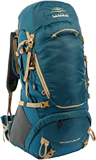 Outdoor Backpack Mountaineering Men and Women Waterproof Bag Large-Capacity Sports Bag Travel Backpack Riding Bag 65L, 2 Color Optional QYLOZ (Color : B)
