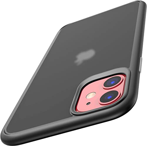 high quality TOZO for iPhone 11 Case 6.1 Inch (2019) outlet online sale Hybrid PC+TPU Soft Grip Matte Finish Clear Back Panel Cover for wholesale iPhone 11 (Semi Transparent Black) online