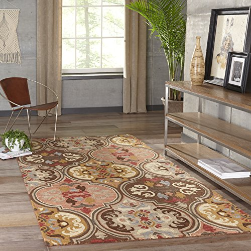 Momeni Rugs Tangier Collection, 100% Wool Hand Tufted Tip Sheared Transitional Area Rug, 2' x 3', Multicolor