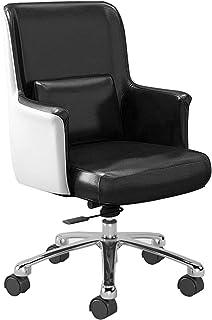 Silla oficina ergonomica Silla De Estudio Sillas giratorias de oficina, silla ergonómica de escritorio para computadora de oficina con soporte lumbar, tela de cuero de PU, rotación de 360 °, cojí