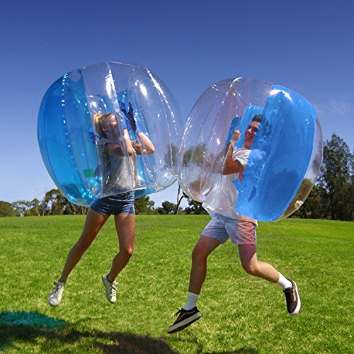 Holleyw Inflatable 4' Wearable Buddy Bumper Zorb Balls Heavy Duty Durable PVC Viny Bubble Soccer Outdoor Game (Only 1,Blue)