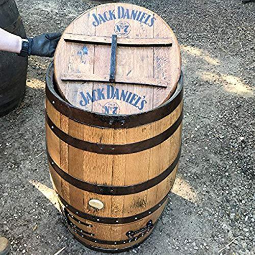 Gerecycled massief eiken Jack Daniel's branded whiskyvat houtskoolwinkel.