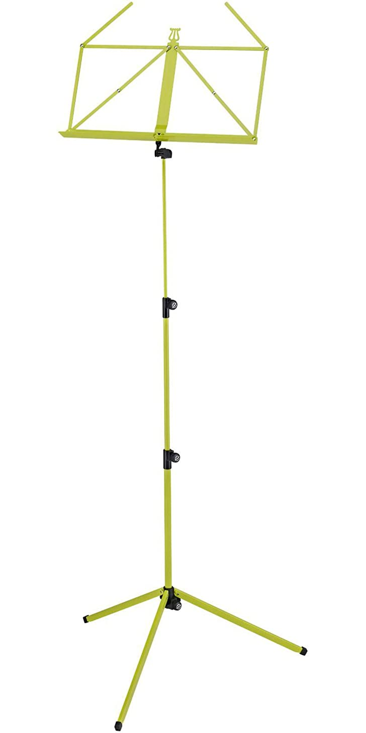 K&M Stands K&M Adjustable Music Stand - Yellow Green (10010.000.31)