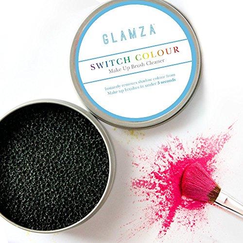 Glamza Make-up Pinsel Reinigungs-Schwamm, SWITCH COLOUR - schneller Farben- und Lidschattenwechsel,...