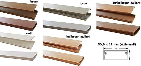 1,5 m Silberfarben; DLine von BC/&E braun L/änge 16 x 8 2/x 75/cm Holz- schwarz wei/ß plastik 16/mm x 8/mm breit D Line 16/x 8 Kabelkan/äle