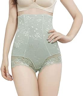 CHARTOU Womens Soft High Waist Floral Lace Tummy Control Butt Lifter Shapewear Panty