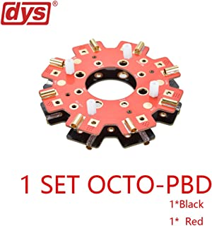 DYS 1 Set 260A 8 Ways ESC Motor Power Distribution Board for OCTO Multicopter PDB (1Piece Red,1 Piece Black)