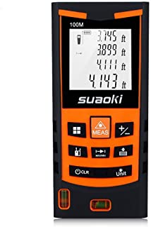SUAOKI S9 330ft Laser Distance Measure, Laser Measure with 2 Bubble Levels,Pythagorean Mode and Area, Volume Calculation and Range Finder/Digital Tape Measure