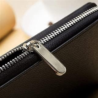 Men's Bag Wallet Long Cross Pattern Fashion Zipper Trend for Leisure Shopping Travel Travel Essentials (Color : Blue, Size : S)