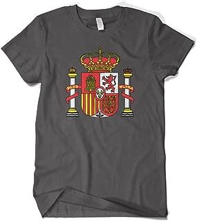 Cybertela Men's Spain Coat of Arms Royal Crown Crest T-Shirt