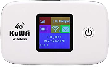 KuWFi 4G LTE Mobile WiFi Hotspot Unlocked Wireless Internet Router Devices with SIM Card..