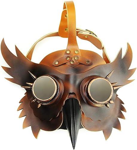 garantizado Fiesta Fiesta Fiesta de Halloween Máscara Plaga Doctor Cosplay Party Props Steampunk PU Máscara de cuero Color de degradado  punto de venta de la marca
